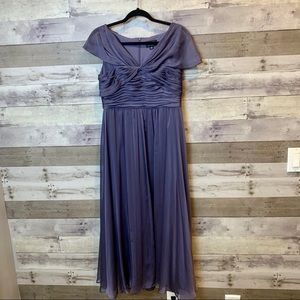 Adrianna Papell Occasions Purple Gown Long Size 10